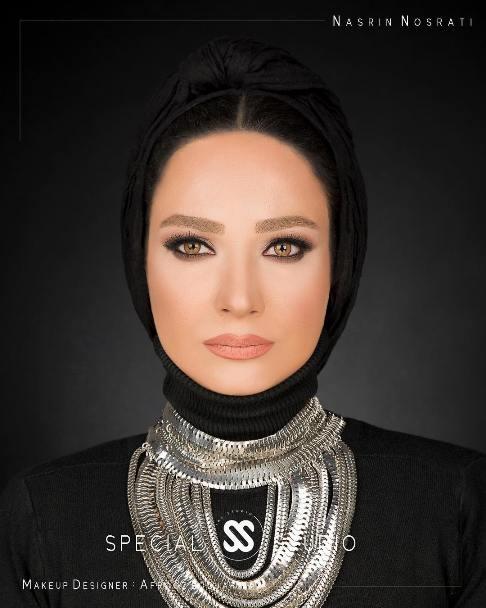 عکس نسرین نصرتی به عنوان مدل آرایشی