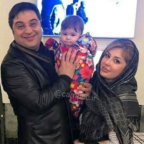 نیوشا ضیغمی در کنار همسر و دخترش لیانا