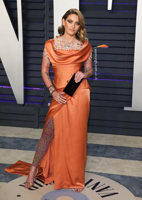 مدل لباس,مدل لباس در ميهماني بعد از اسکار,مدل لباس در ميهماني مجله ونتي فير,مدل لباس پاريس هيلتون Paris Jackson در ميهماني بعد از اسکار 2019 Oscar