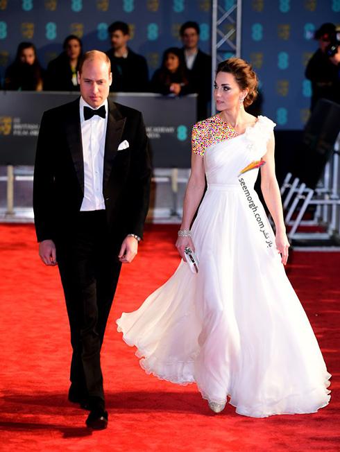 بفتا,بفتا 2019,مدل لباس,مدل لباس در بفتا 2019,مدل لباس کيت ميدلتون Kate Middleton در بفتا 2019 Bafta
