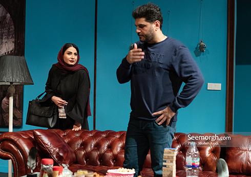 متین ستوده و سام درخشانی در نمایش 30 دی 95