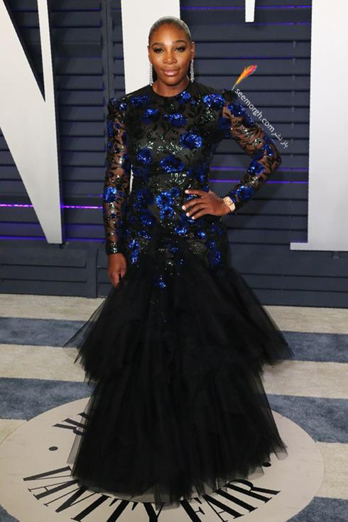 مدل لباس,مدل لباس در میهمانی بعد از اسکار,مدل لباس در میهمانی مجله ونتی فیر,مدل لباس سرنا ویلیامز Serena Williams در میهمانی بعد از اسکار 2019 Oscar