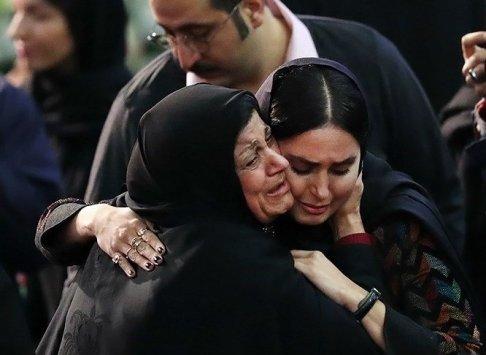 الناز شاکردوست در آغوش اعظم محسن دوست