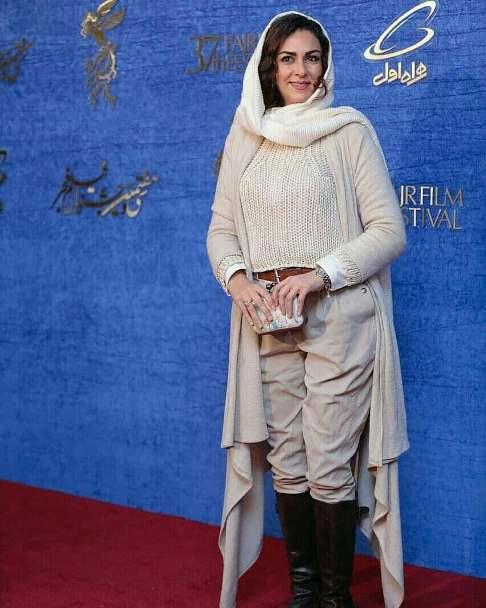 تیپ شیوا ابراهیمی در جشنواره فیلم فجر