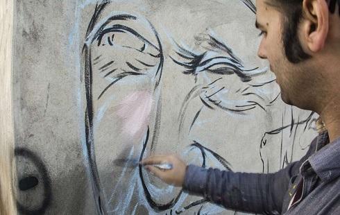 نقاشی دیواری چهره در روستاهای فومن
