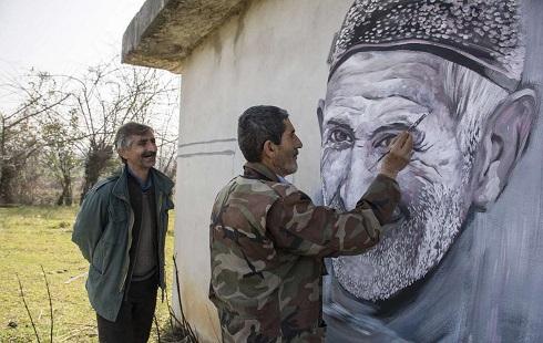 نقاشی های چهره بر دیوار روستا تویط  سینا رمضانی مقدم