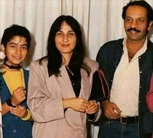 سوسن تسليمي در کنار داريوش فرهنگ همسر سابقش و دخترش توکا