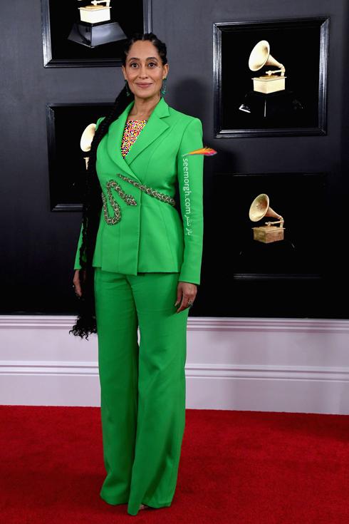 مدل لباس,مدل لباس در جايزه گرمي,جايزه گرمي 2019,مدل لباس در جايزه گرمي 2019,مدل لباس تريسي اليس راس Tracee Ellis Ross در جايزه گرمي 2019 Grammy Awards