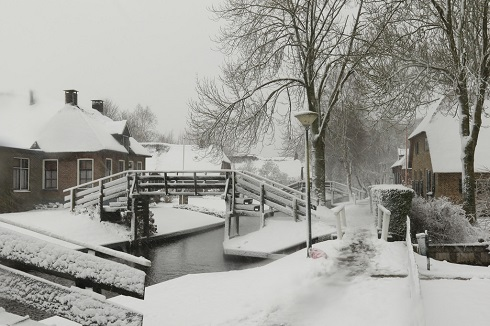 تصویر زمستانی زیبا از «ونیز هلند»