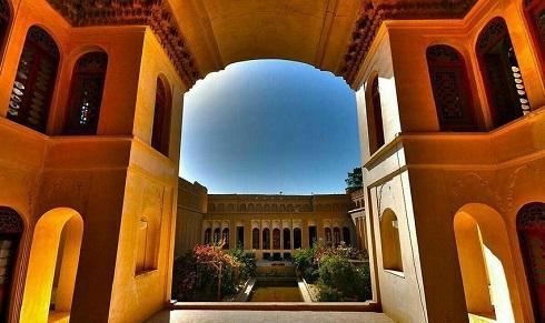 نمایی از خانه آقازاده در یزد