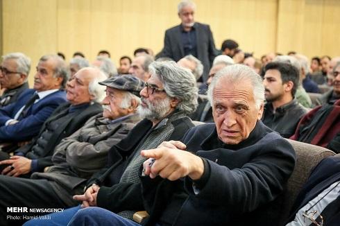 احمد نجفی در ختم مرحوم خشایار الوند