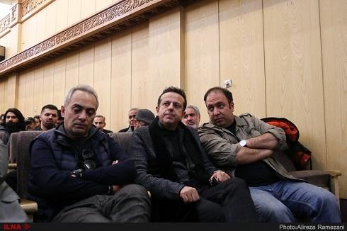علی قربانزاده در مجلس ختم مرحوم خشایار الوند