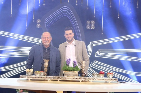 آتیلا پسیانی و علی ضیا در ویژه برنامه تحویل سال فرمول یک