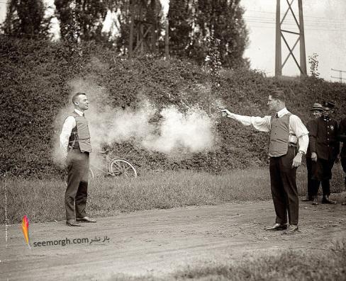 عکس قدیمی,عکس تاریخی,عکس کمیاب,تاریخ,جلیقه ضد گلوله