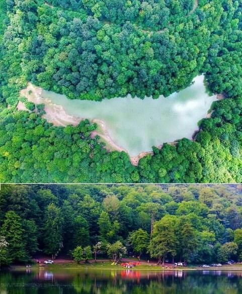 عکس زیبا از دریاچه میانشه یا دریاچه چورت