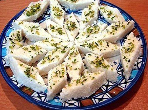 لوز نارگیل,شیرینی,شیرینی عید,شیرینی نوروزی,طرز تهیه لوز نارگیل