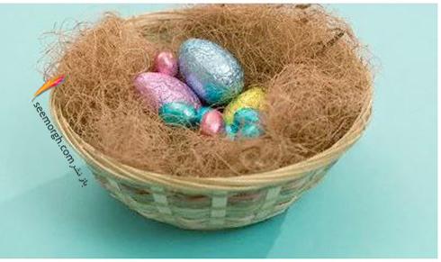 تزیین تخم مرغ,تزیین تخم مرغ هفت سین,تخم مرغ سفره هفت سین,تزیین تخم مرغ هفت سین برای نوروز با کاغذهای براق