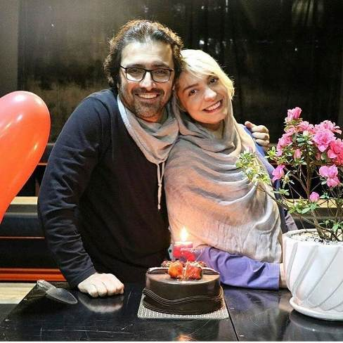 سالگرد ازدواج امین زندگانی و همسرش الیکا عبدالرزاقی