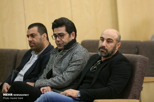 فرزاد حسنی و محسن تنابنده در سوگ مرحوم خشایار الوند
