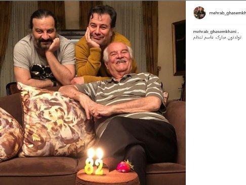 تولد 82 سالگي پدر برادران قاسم خاني