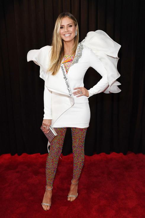 مدل لباس,جايزه گرمي,مدل لباس در جايزه گرمي,عجيب ترين لباس ها در جايزه گرمي,مدل لباس هايدي کلوم Heidi Klum در جايزه گرمي 2019 Grammy Awards