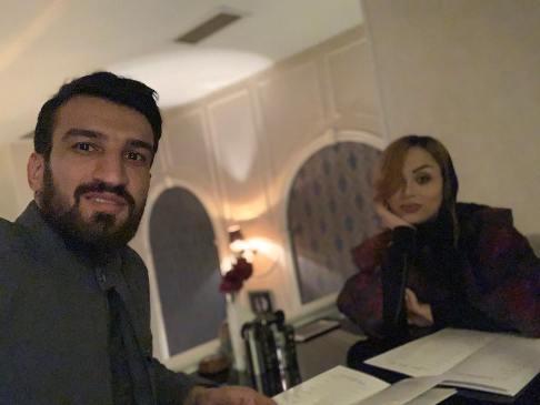عکس حسين ماهيني و همسرش