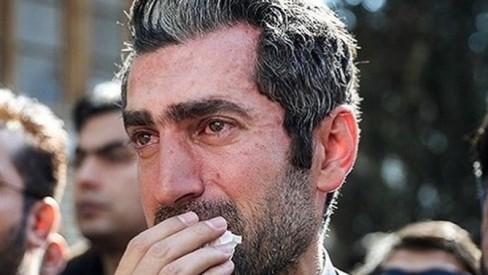گریه مجتبی جباری در مراسم تشییع پیکر خشایار الوند