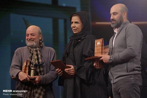 محسن تنابنده در مراسم اختتاميه جشنواره تلويزيوني جام جم