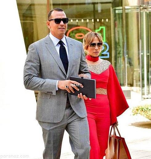 جنبفر لوپز Jennifer Lopez و همسر جدیدش الکس رودریگز