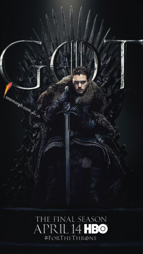 بازي تاج و تخت, بازيگران بازي تاج و تخت,فصل هشتم,پوسترها,Game of Thrones,جان اسنو