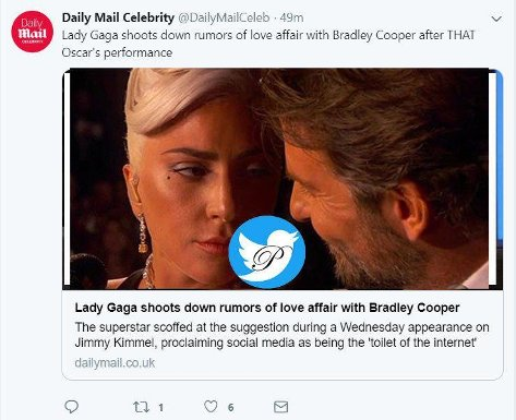 جنجال نگاه عاشقانه لیدی گاگا به بردلی کوپر