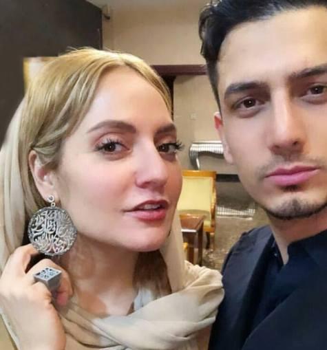 مهناز افشار در کنار برادر شوهرش