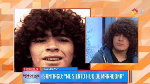 پسري که گفته مي شود فرزند مارادونا است