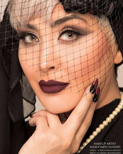 چهره مريم معصومي به عنوان مدل آرايشي
