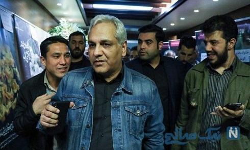 حضور مهران مدیری در مراسم ترحیم مرحوم خشایار الوند