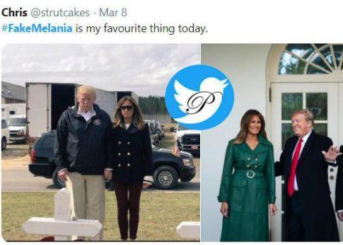 عکس های منتشر شده درباره بدل ملانیا ترامپ
