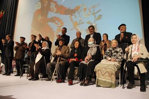 مراسم بزرگداشت هنرمندان پیشکسوت تئاتر، در جشن نوروزگانِ خانه تئاتر