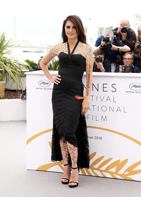 مدل لباس,پنه لوپه کروز,مدل لباس پنه لوپه کروز,بهترین مدل لباس پنه لوپه کروز در جشنواره کن 2018 - مدل لباس شماره 5