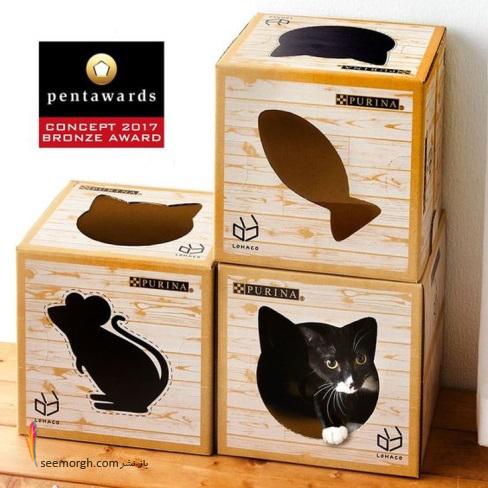 بسته بندی,هنر بسته بندی,روش بسته بندی,packaging,غذای گربه