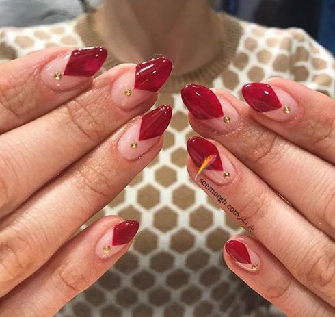طراحي ناخن,طراحي ناخن براي بهار,طراحي ناخن قرمز,طراحي ناخن قرمز براي بهار,طراحي ناخن با رنگ قرمز براي بهار 2019 - عکس شماره 9
