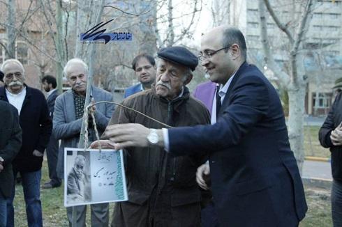 سعید پورصمیمی در جشن نوروزگانِ خانه تئاتر