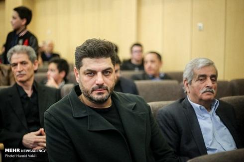 سام درخشانی در مجلس ختم مرحوم خشایار الوند