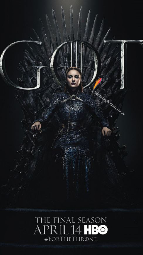 بازي تاج و تخت, بازيگران بازي تاج و تخت,فصل هشتم,پوسترها,Game of Thrones,سانسا استارک