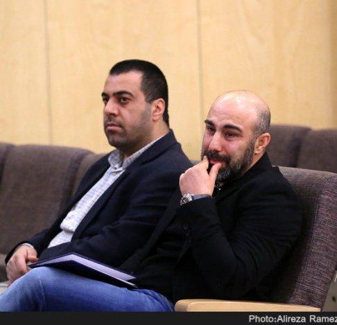 گریه کردن محسن تنابنده در مراسم خشایار الوند