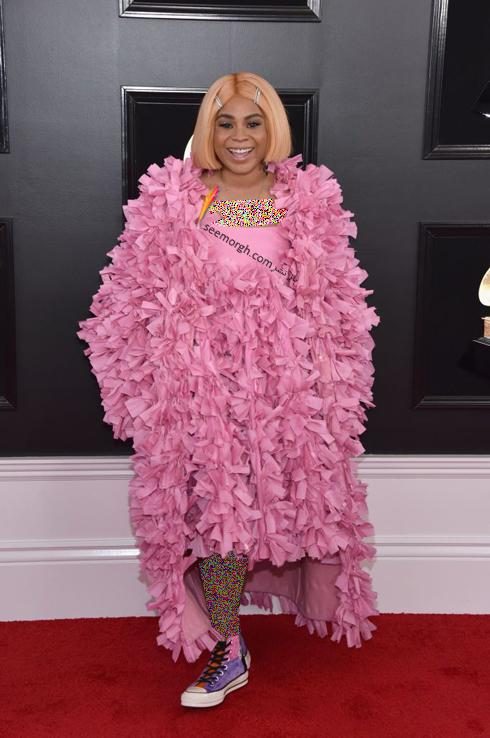 مدل لباس,جايزه گرمي,مدل لباس در جايزه گرمي,عجيب ترين لباس ها در جايزه گرمي,مدل لباس تايلا پارکس Tayla Parx در جايزه گرمي 2019 Grammy Awards