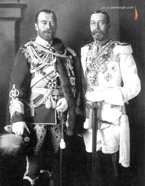 تزار نیکلاس,روسیه,جورج پنجم,پادشاه انگلستان