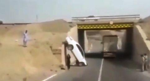صحنه تصادف راننده خانم