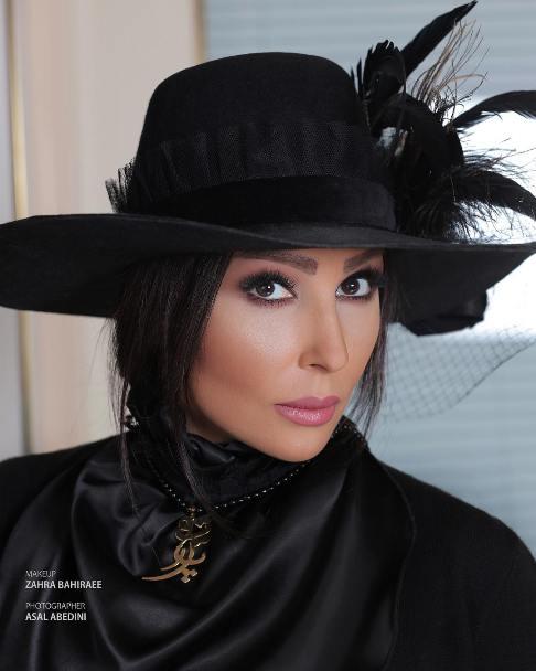 عکس پرستو صالحی به عنوان مدل آرایشی