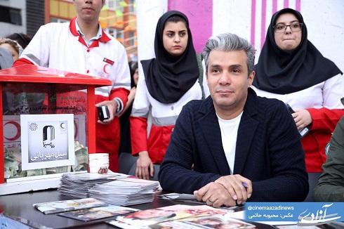 عکس آريا عظيمي نژاد در سيل مهربانى سينما آزادى