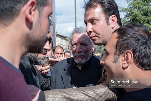 جمشید مشایخی,ختم,ترحیم,مسجد,بازیگران,بهمن مفید
